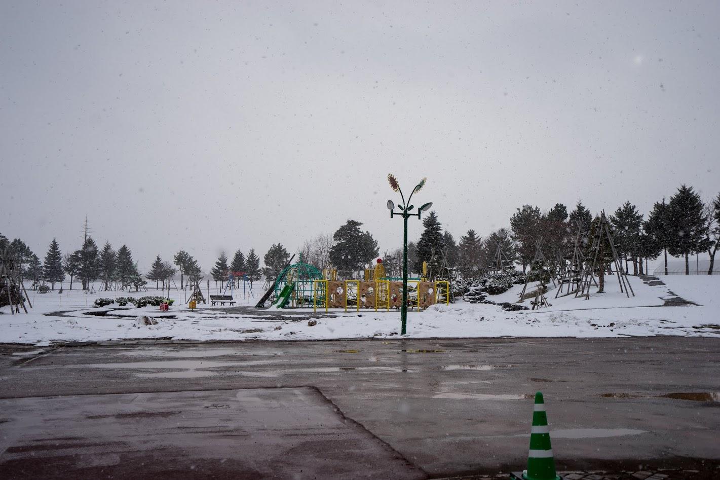 公園(ターザンロープ、ロッククライマー、幼児用スプリング遊具等)