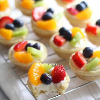 Mini Sugar Cookie Fruit Tarts.