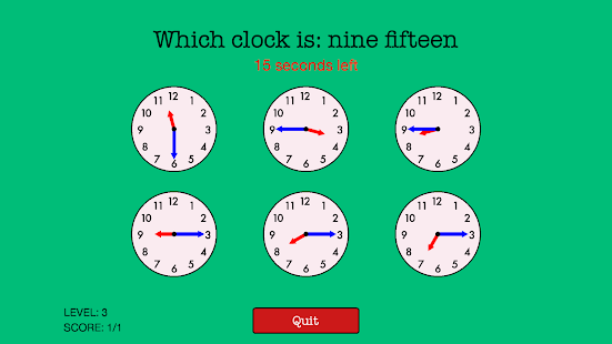 Quick Strike Clocks - Learn to Tell Time - náhled