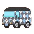 blue swater-vest