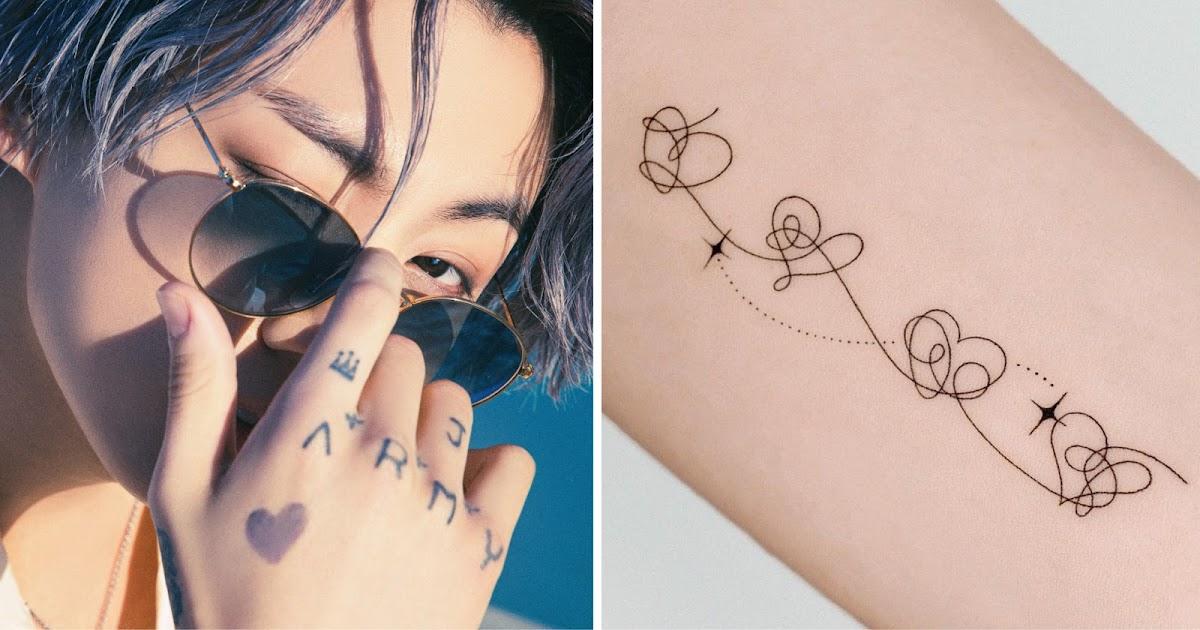 Solo tattoo hope BTS 2021