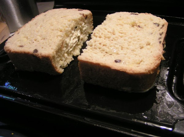Slice bread in to 1 1/4-inch-thick slices. Cut a slit through the top crust...