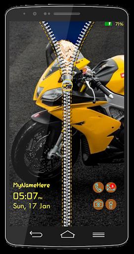 スピーディバイクロック画面