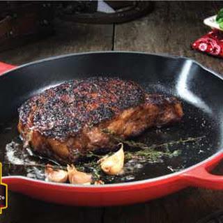 Classic Pan-Seared Ribeye Steak.