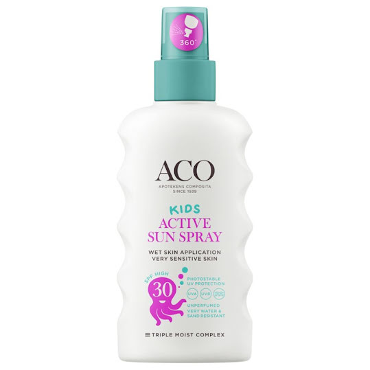 ACO Kids Active Sun Spray SPF 30, 175 ml