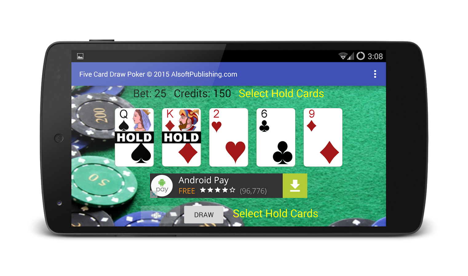 Five Card Draw Poker - Android Apps on Google Play