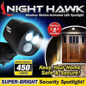 Proiector Night Hawk fara fir de exterior, cu senzor de miscare