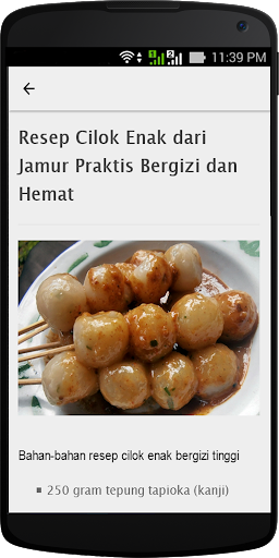 Resep Cilok Enak screenshot