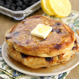 Blueberry Lemon Ricotta Pancakes