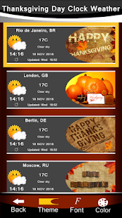 Thanksgiving Day Clock Weather - náhled
