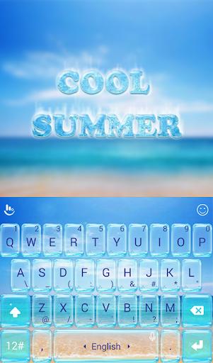 TouchPal Cool Summer Theme Screenshot