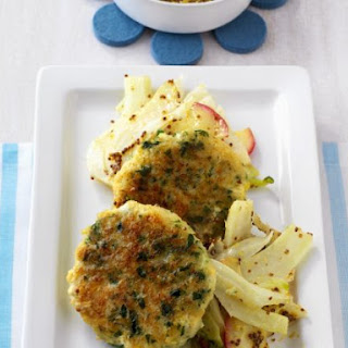 Fennel and Apple Salad with Fish Cakes