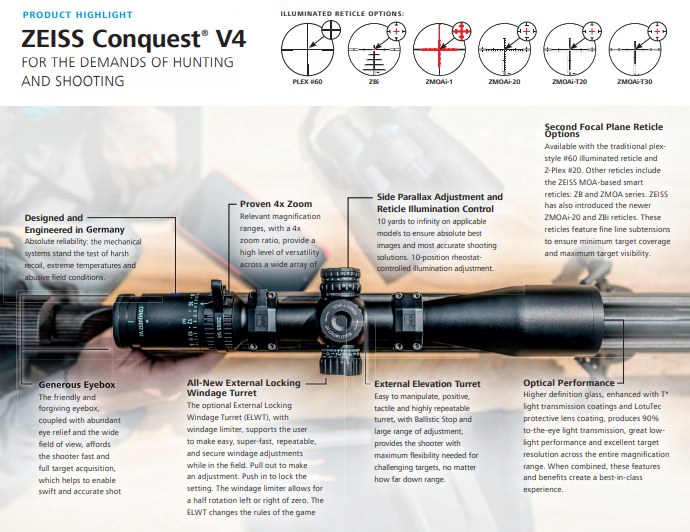 The Specifications of the Conquest v4