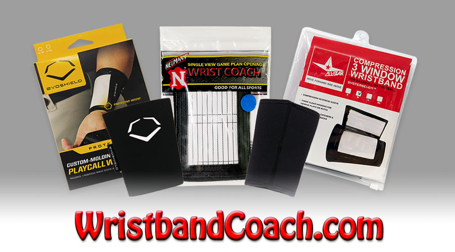 Wristband Coach Play Call Wrist Bands