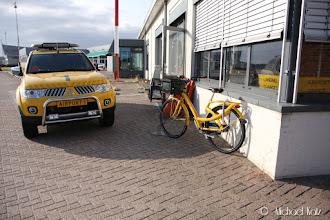 Photo: På Nederlandske flyplasser har de selvsagt sykler.