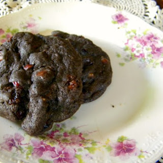 Chocolate Chocolate Chip Cranberry Cookies