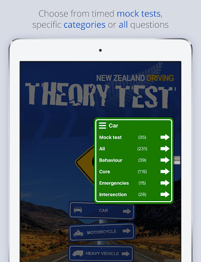 Screenshot for NZ Driving Theory Test in Hong Kong Play Store