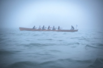 Photo: Barge Race, Lost in the fog off Alcatraz