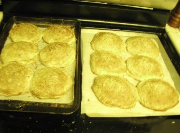 Bake at 350 degrees for 10 minutes. Melt butter while waiting (stovetop or microwave)....