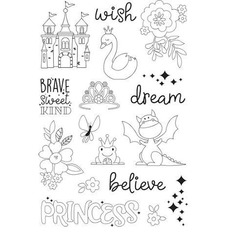 Simple Stories Little Princess Clear Stamps 4X6 - Make a Wish UTGÅENDE