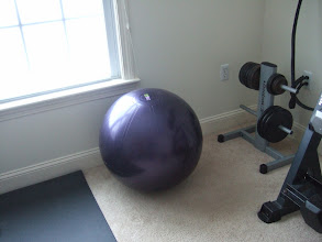 Photo: Stability Ball and weights