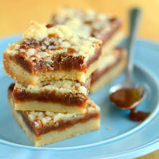 Cajeta Shortbread Crumb Bars.