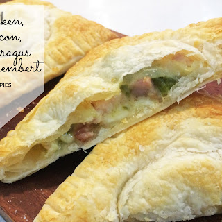 Chicken, Bacon, Asparagus & Camembert Hand Pies.