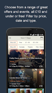 Frugl – Find events in London- screenshot thumbnail