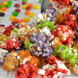 Summer Fruity Candy Popcorn.