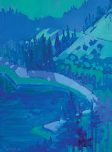 Photo: Emerald Bay, oil on board by Nancy Roberts, copyright 2014. Private collection.