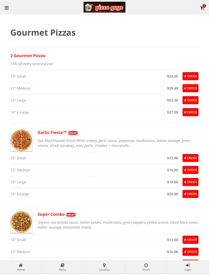 Pizza Guys Vancouver- screenshot