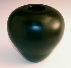 "Photo: David Jacobowitz - Black Deep Hollowed Bowl - 9"" x 7"" - Birch w/Leather Dye"