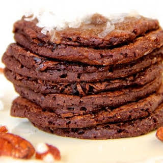 Skinny German Chocolate Pancakes.