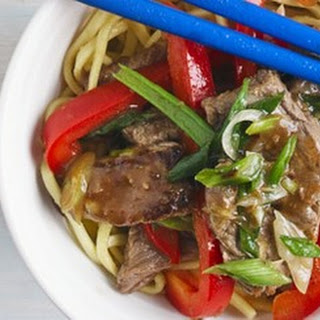 Beef And Red Pepper Stir-fry.