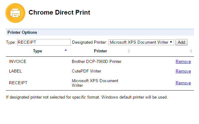 Chrome Direct Print