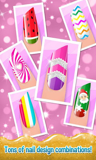 Nail Art Shiny Design Salon - Sweet Girls Manicure image   3