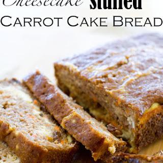 Cheesecake Stuffed Carrot Cake Bread