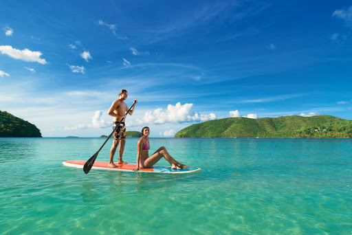 Learn to paddleboard on a port call in St. John, U.S. Virgin Islands.