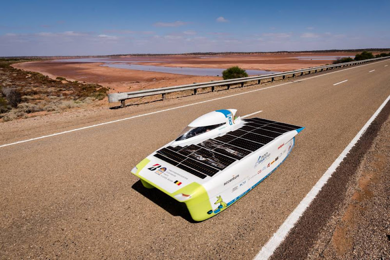Punch Powertrain Solar Team eindigt derde in Bridgestone World Solar Challenge 2017
