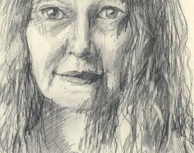 "Photo: Self-Portrait Study 4, detail, 21cm x 29cm, 8"" x 11.5"", 2012, Moleskine folio Sketchbook, graphite."