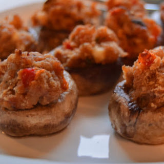 Classic Sausage Stuffed Mushrooms.
