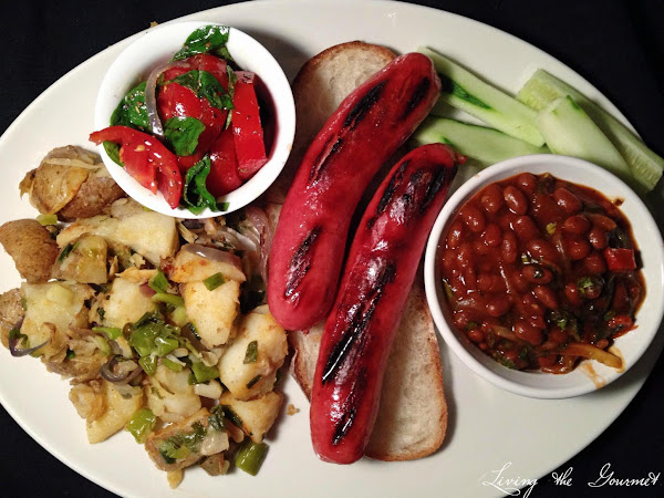Steak Dogs With Beans, Home Fried Potatoes And Tom Recipe