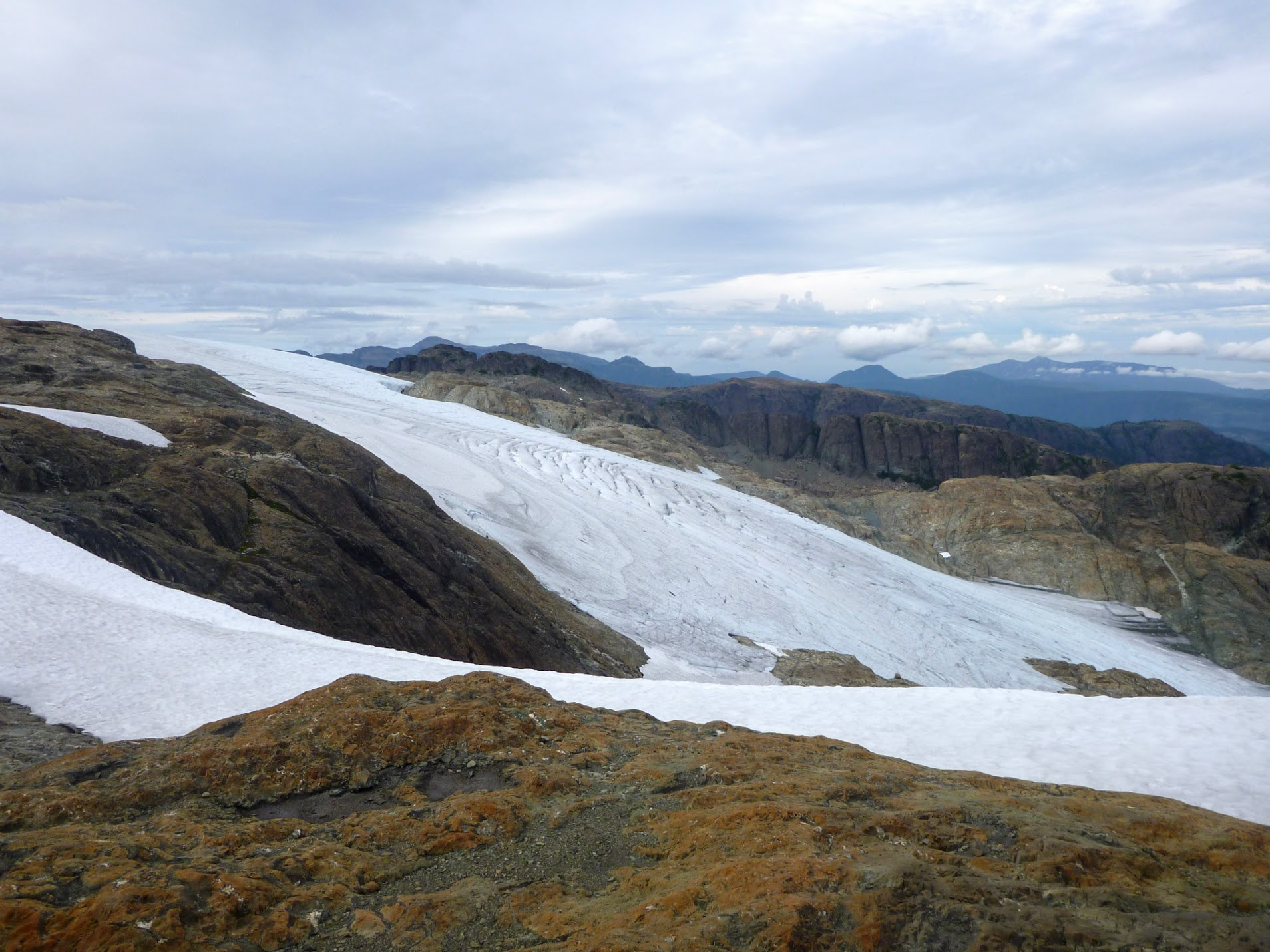 The steeper part of Comox Glacier
