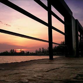 On The Bridge by Rizki Mayendra - Instagram & Mobile Android ( android, sunset, bridge, landscape, mobile )