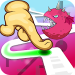 Follow the Line Monster Run: Finger Race 2D Deluxe Icon