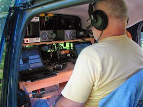 Photo: Terry W8ZN operating V/UHF station FN00WA - ARRL June VHF 2014