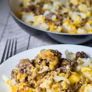 Cauliflower and Ground Beef Hash - Low Carb Recipe