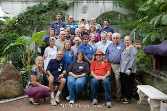 Photo: And here we all are in Mike and Sue's garden.  [08.09]