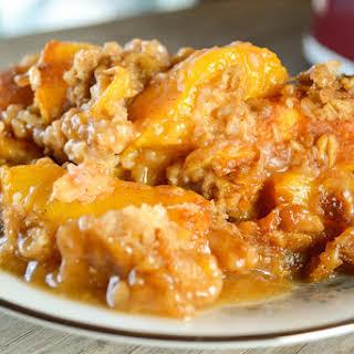 Crock Pot Peach Cobbler.