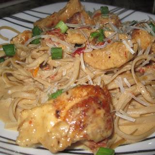 Cajun Chicken with Fettuccine Alfredo